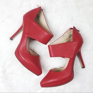 Nine west ankle wrap pumps in Red